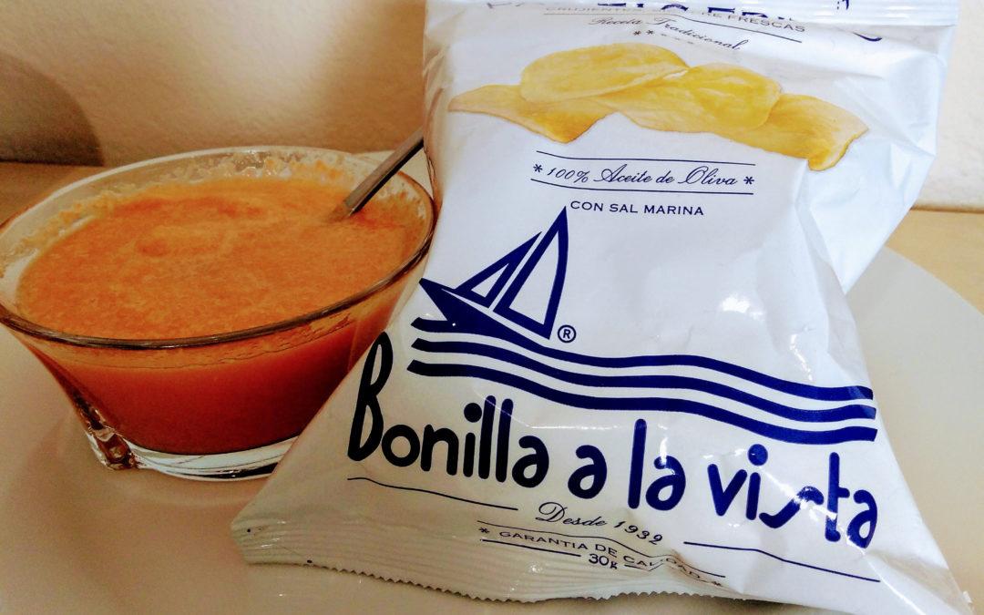 Crema de calabaza con patatas Bonilla a la Vista