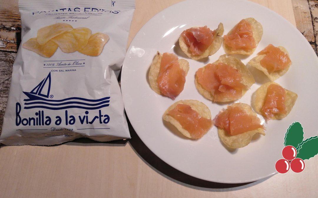 Salmón ahumado con patatas Bonilla a la Vista
